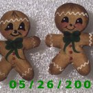 Ginger Bread Man Pierced Earrings     C023