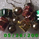 Presents and Bells Pierced Earrings     C024