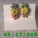 Silver w/Flowers N Screwbacks Earrings  D016 1008