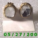 Gold w/Clear Stone Clip On Earrings    D025 1006