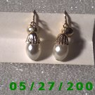 Gold n Pearls Clip On Earrings    D029