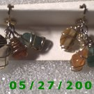 Multi Colored Stones Clip On Earrings    D031