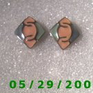 Silver Clip On Earrings    D036