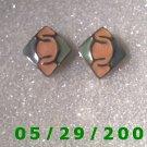 Silver Clip On Earrings    D036