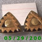Gold Triangles Clip On Earrings    D041