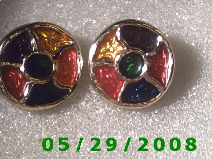 Silver Clip On Earrings    D045