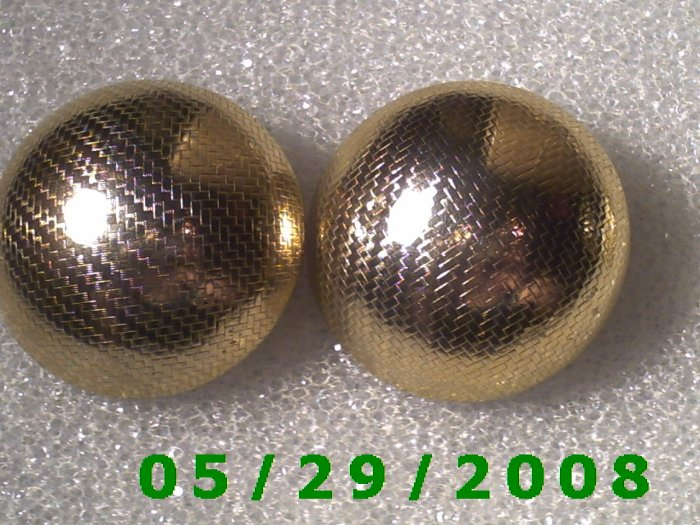 Gold Sphere Clip On Earrings    D066