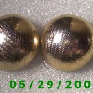 Gold Sphere Clip On Earrings    D066