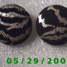 Black n Silver Clip On Earrings    D069