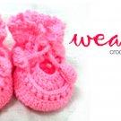 Crochet baby bootie (pink) RM18