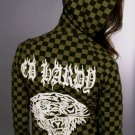 Ed hardy Womens Checkered Hoodie: Olive Green