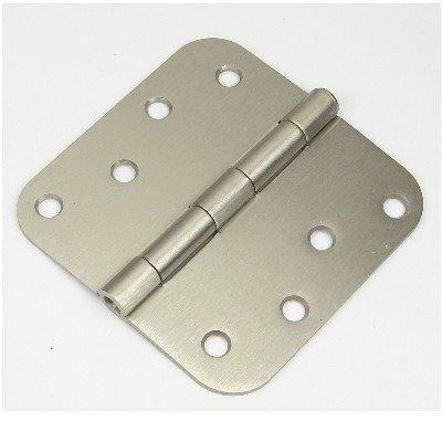 "4"" Satin nickel Door Hinge w/screws 5/8 radius US15"
