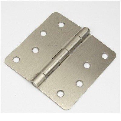 "4"" Satin nickel Door Hinge w/screws 1/4"" radius US15"