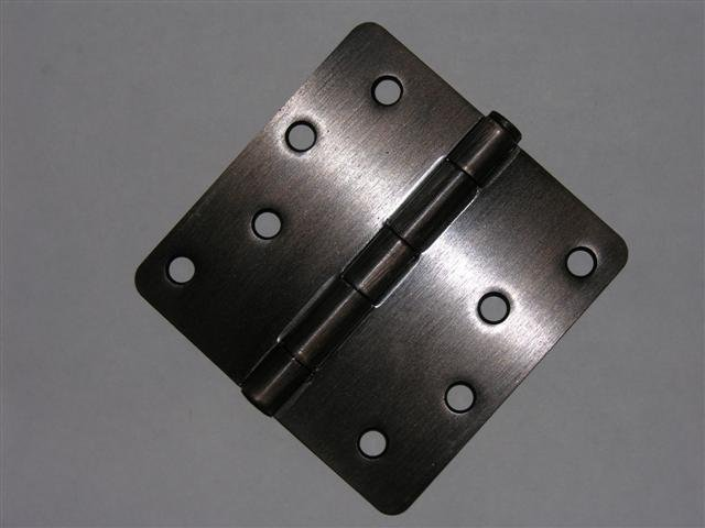 "4"" Venetian Bronze Door Hinge w/screws 1/4"" radius"