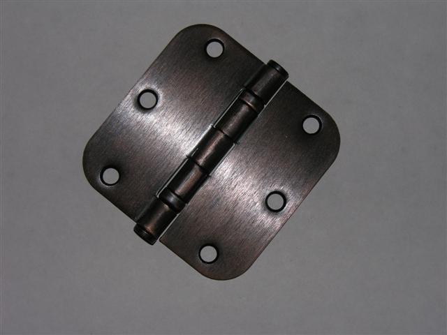 """Venetian Bronze 3.5"""" Ball Bearing Hinges 3 1/2"""" 5/8"""" radius corners"""