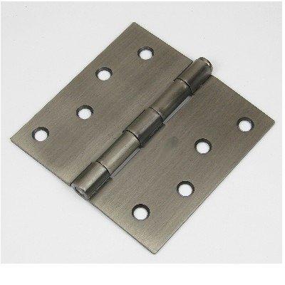 """4x4"""" Antique Pewter 4"""" Door Hinges w/screws square corner radius"""