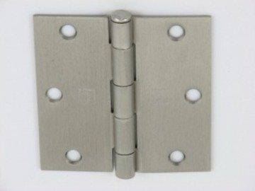 """3.5"""" Satin Nickel Door Hinges w/screws square corner radius"""