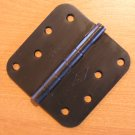 "Oil Rubbed Bronze 4""x4"" Door Hinge w/screws 5/8 radius US10B"