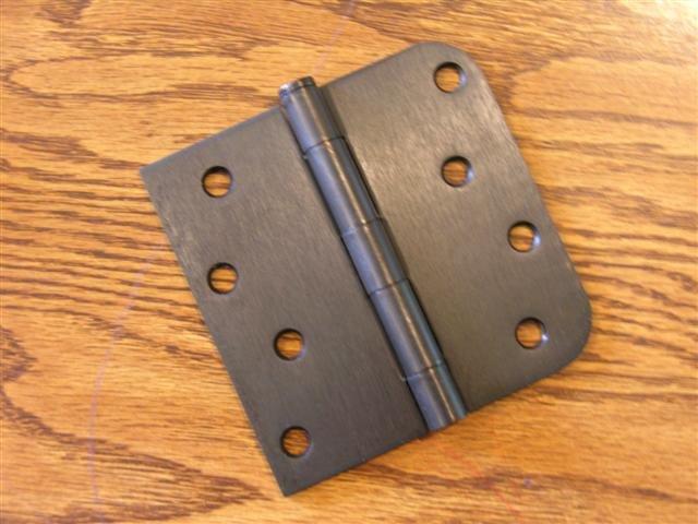 """Oil Rubbed Bronze 4""""x4"""" Door Hinges w/screws square x 5/8"""" radius corners"""