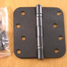 "Oil Rubbed Bronze 4""x4"" Ball Bearing Hinges 5/8"" radius corners"