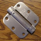 "Satin Nickel 3 1/2"" Adjustable Spring Hinges 5/8"" radius corners"