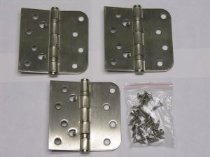 "3 each Satin Nickel 4X4"" Ball Bearing Hinges US15"