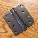 "4"" Oil Rubbed Bronze adjustable spring hinge Square x 5/8"" radius corners"