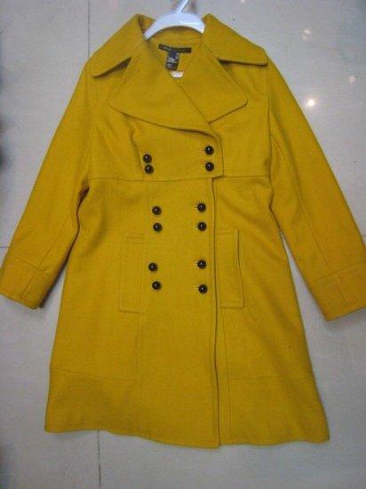Yellow Wool Coat