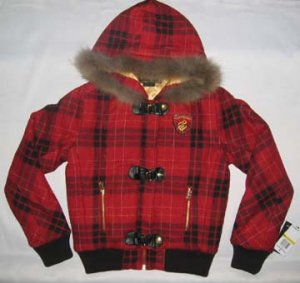 Red And Black Check Coat