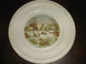 "Currier & Ives ""The Homestead in Winter"" Collector Plate"