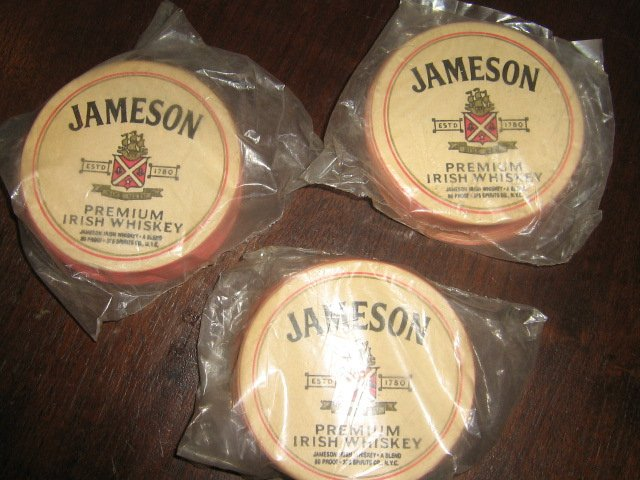 Lot 3 sets Vintage Jameson Whiskey Bar Coasters Advertising NIP