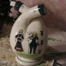 Unique Dutch? Wedding Pitcher ~ two spout Jug ~ folk art ~RARE