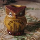 vintage .. OWL .. Souvenir tooth pick holder New York..MIJ