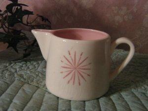 Vintage.. Eames Era .. Atomic Star .. Pink Creamer