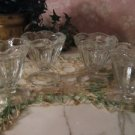 Set 4 .. vintage Anchor Hocking Sundae footed Dishes
