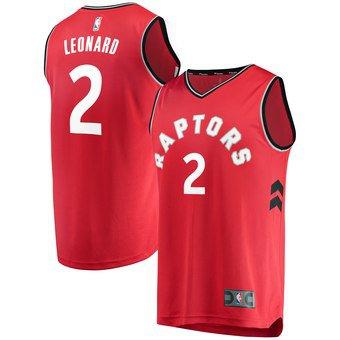 ca34670e5 2019 Men s Toronto Raptors Kawhi Leonard Red Fast Break Jersey