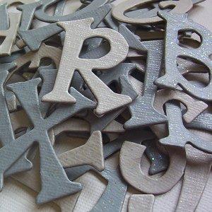 Glitter Winter Chipboard Letters Scrapbooking