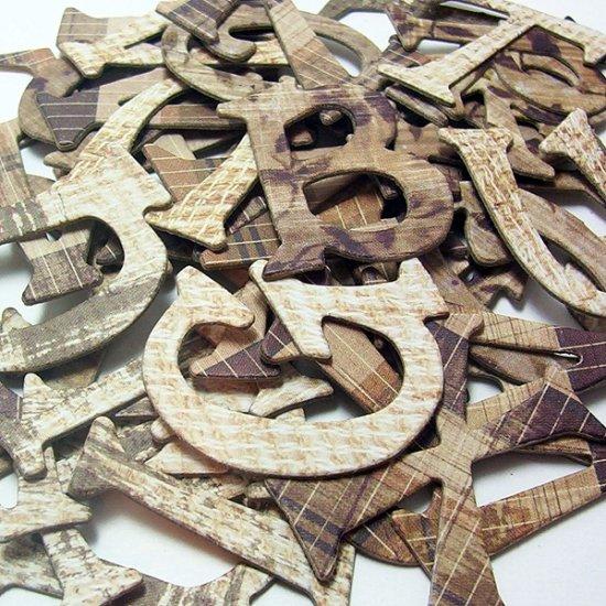 Grandma's Blanket Chipboard Letters Scrapbooking
