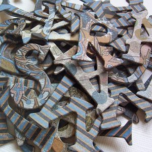 Vagabond Chipboard Letters Scrapbooking