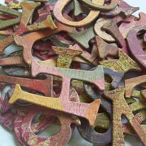 Sublime Chipboard Letters Scrapbooking