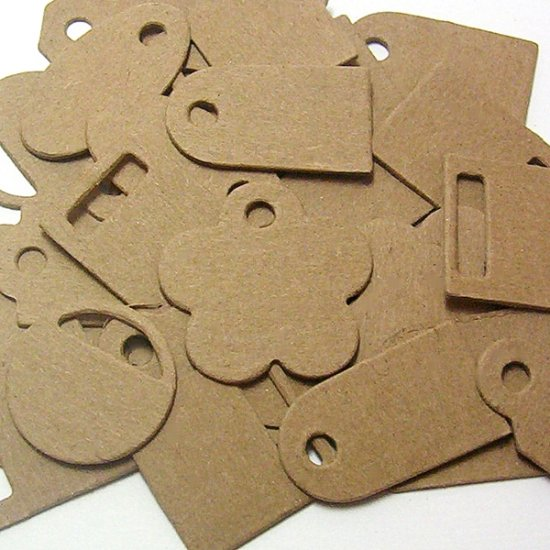 Mini Tags Chipboard Alterables Scrapbooking