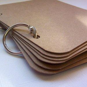 5 x 5 Blank Chipboard Book Scrapbooking