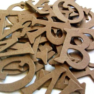 Naked Chipboard Letters Scrapbooking