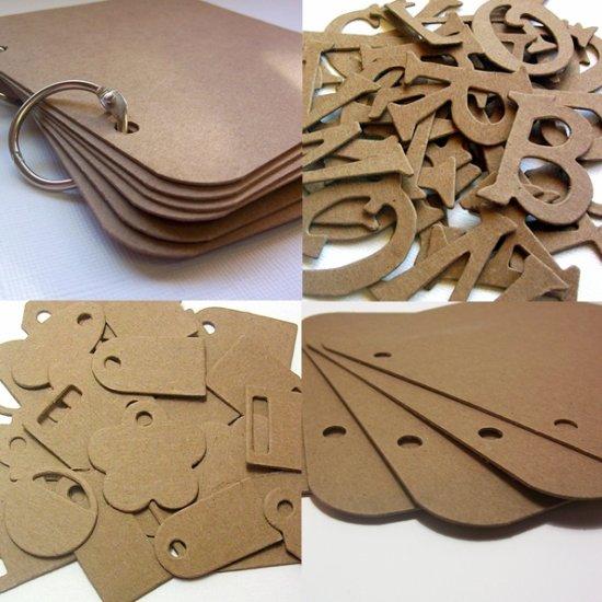 Bundle Pack Chipboard Alterables Scrapbooking