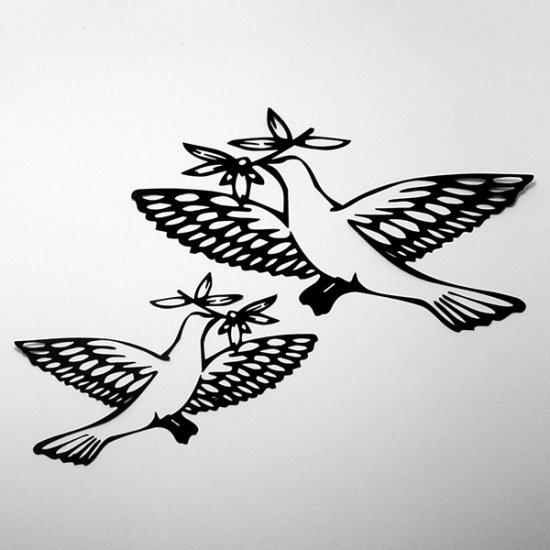Peace Doves - Die Cuts Scrapbooking