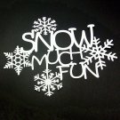 Snow Much Fun - Die Cut Scrapbooking