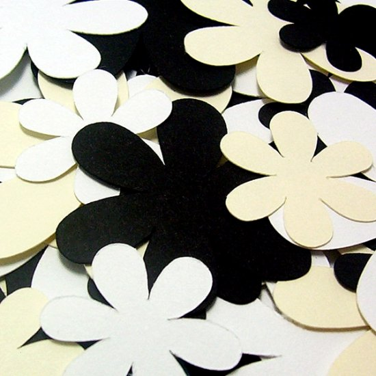 Black Tie Paper Flowers - Die Cuts Scrapbooking