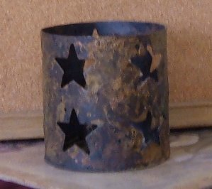 Star Cutout Pattern Metal Votive Holder