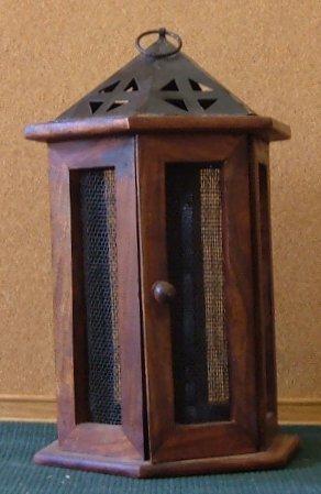 Wooden Lantern Candle Holder