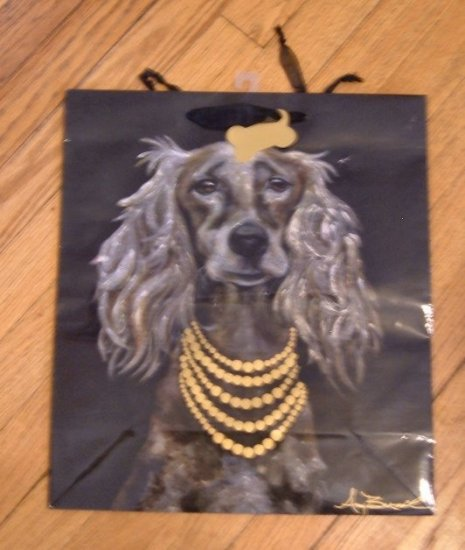 Amy Brazil Dog Gift Bag with Dogtag Tag